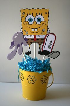 Hey, I found this really awesome Etsy listing at https://www.etsy.com/listing/208161747/spongebob-squarepants-centerpiece-for-a