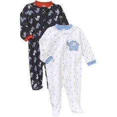 Garanimals Newborn Baby Boys' Cotton Sleep n' Plays, 2-Pack, Newborn Boy's, Size: 6 - 9 Months