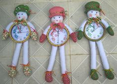 Trío Relojes Navideños, Muñecos de nieve