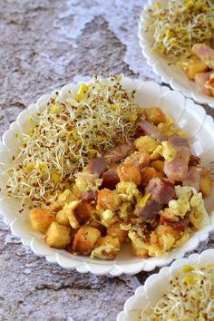 Laktató tojásrántotta recept - Kifőztük, online gasztromagazin Portobello, Chana Masala, Ethnic Recipes, Rice, Food, Essen, Meals, Yemek, Laughter