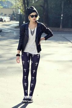 leggings estampado cruz