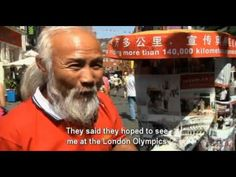 Farmer rides rickshaw from China to London, I love how much he believes in his dreams!