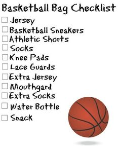 Back to balling on Sunday's, boys haven't see. Me in a while they better be ready! Immmmmm back for threeeeeeee lol Basket-ball Sports Bag Checklists {Free Printable Sport Basketball, Basketball Tricks, Basketball Practice, Basketball Workouts, Basketball Skills, Basketball Season, Love And Basketball, College Basketball, Basketball Players