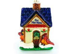 Old World Christmas Our New Home Ornament. #Christmas #NewYear #Ornament #Decor #giftidea #Gift #gosstudio .★ We recommend Gift Shop: http://www.zazzle.com/vintagestylestudio ★