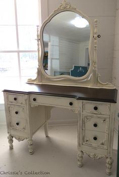 Repurposed dresser in a vanity Refurbished Furniture, Paint Furniture, Repurposed Furniture, Furniture Projects, Furniture Making, Furniture Makeover, Vintage Furniture, Home Furniture, Rustic Furniture