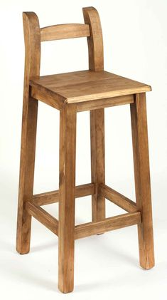 Wood High Chairs, Bar Chairs, Wooden Projects, Woodworking Projects Diy, Wooden Furniture, Furniture Design, Stools For Kitchen Island, Wood Stool, Dining Room Inspiration