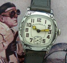 Men's 1929 Illinois Speedway Wristwatch w/Box | Strickland Vintage Watches