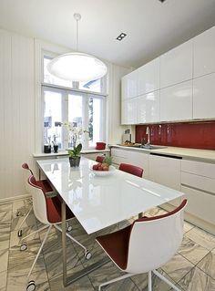 red white kitchen ideas