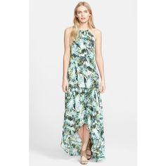 Parker 'Kansas' Print Silk Maxi Dress ($178) ❤ liked on Polyvore