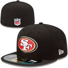 Mens San Francisco 49ers New Era Black On-Field Player Sideline 59FIFTY  Fitted Hat ff1cc5607