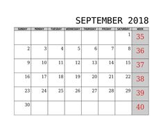 Here you will get September 2018 Calendar PDF, Blank Calendar for your personal & office use at free of cost from our website. June Calendar Printable, June 2019 Calendar, 2018 Calendar Template, Excel Calendar, Desktop Calendar, Calendar Wallpaper, Weekly Calendar, Kids Calendar, Blank Calendar