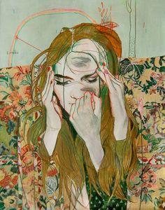 illustration : – Picture : – Description Artist illustrator Alexandra Levasseur -Read More – Art And Illustration, Migraine Art, Kunst Online, Psy Art, Art Graphique, Fine Art, Art Design, Graphic, Art Inspo