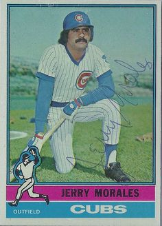 1976 Topps - Jerry Morales #79 (Outfielder) - Autographed Baseball Card (Chicago Cubs) | by WhiteRockPier
