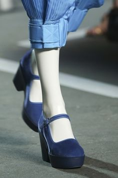 Marc by Marc Jacobs SS15 - blue velvet shoes