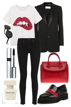 """07.11.2015"" by chrissy6 ❤ liked on Polyvore featuring moda, Yves Saint Laurent, rag & bone, Alexander McQueen, The Row, By Terry e Narciso Rodriguez"
