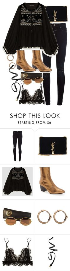 """Untitled #11473"" by nikka-phillips ❤ liked on Polyvore featuring Closed, Yves Saint Laurent, Kofta, Topshop, Ray-Ban, Acne Studios, Isabel Marant and H&M"