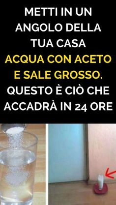 Put in a corner of your house Acqua con Aceto and Sale Grosso. This is what will happen in 24 hours - Home Cleaning Home Remedies, Natural Remedies, Colon Detox, Sr1, Desperate Housewives, Tree Care, Home Health, Problem Solving, Clean House