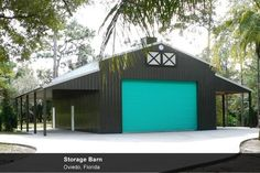 Metal Post Frame, Timber Frame, Pole Buildings, Pole Barns at Cornerstone Building Company and Construction in Orlando, Florida Building A Pole Barn, Building A House, Building Homes, Barn Shop, Steel Barns, Barn Apartment, Pole Buildings, Long House, Barn Renovation