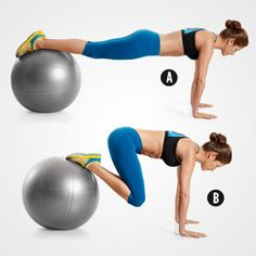 Swiss Ball Jackknife http://www.womenshealthmag.com/fitness/lower-belly-exercises?slide=5