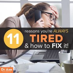 low energy remedies 11 Reasons You're Always Tired and How to Fix it - Dr. Axe - And natural remedies to try for each reason you just can't get going. Holistic Remedies, Health Remedies, Natural Remedies, Natural Treatments, Health And Nutrition, Health And Wellness, Health Fitness, Women's Fitness, Health Facts