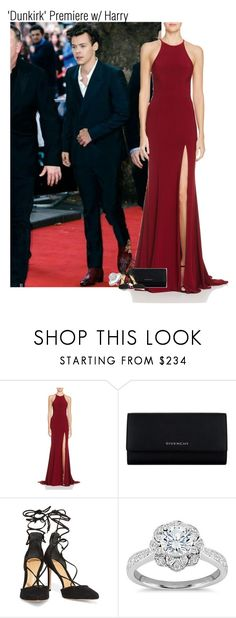 """'Dunkirk' Premiere w/ Harry"" by mikkielaine ❤ liked on Polyvore featuring Faviana, Givenchy, Schutz and Zac Posen"