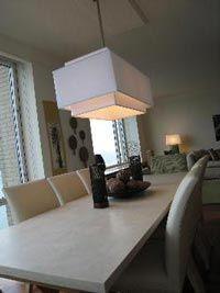 Liking the rectangle chandelier type lighting
