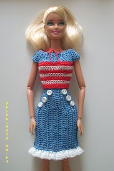 Crochet for Barbie (the belly button body type)