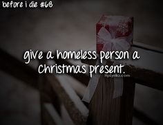 Check! Gave one little girl age 6 a shirt saying stand up! She cried. I was so happy! 2012 Christmas was the best ~HBOMB