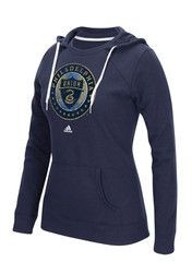 Adidas Philadelphia Union Womens Navy Blue Full Color Primary Hoodie