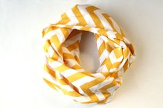 Yellow Chevron Scarf  Circle Scarf by practicalimpact on Etsy, $20.00