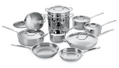 Amazon.com: Cuisinart 77-17 Chef's Classic Stainless 17-Piece Cookware Set: Stainless Steel Cookware: Kitchen & Dining