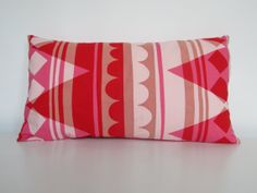 Screen Printed Handmade Cushion Pink/Red by GeometricRamblings, Handmade Cushions, Screen Printing, Flag, Textiles, Throw Pillows, Trending Outfits, Printed, Handmade Gifts, Red