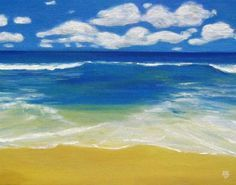 """Seascape painting """"Mare Aperto"""" Acrylic Painting for Beginners get started in 10 Easy steps"""
