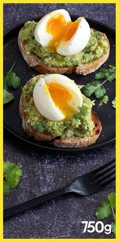 Tostadas de guacamole y huevo cocido - Calculating Infinity Chicken Salad Recipes, Healthy Salad Recipes, Veggie Recipes, Easy Salads, Easy Meals, Tostadas, Healthy Cooking, Cooking Recipes, Healthy Appetizers
