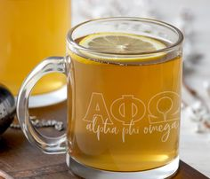 12 oz. glass coffee mug. Design is laser engraved. Recommend hand wash only. Sorority Big Little, Glass Coffee Mugs, Sorority Crafts, Hand Washing, Laser Engraving, Drinkware, Eat, Tableware, Delta Gamma