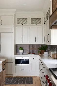 Homestead Farm Kitchen Renovation White Kitchen Cabinets, Kitchen Cabinet Design, Kitchen Cabinetry, Kitchen Countertops, Modern Farmhouse Kitchens, Black Kitchens, Home Kitchens, White Farmhouse, Homestead Farm