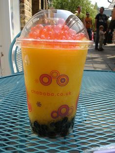 Lovely, refreshing bubble tea from Chaboba this morning! It tastes delicious. #bubbletea