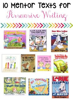 with Mentor Texts Persuasive writing prompts are best with a mentor text! I love persuasive writing activities with mentor texts because the writing is always engaging and hilarious! (Freebie Included)Love Is Love Is may refer to: Writing Mentor Texts, Persuasive Writing Prompts, Writing Strategies, Writing Lessons, Opinion Writing, Persuasive Texts, Writing Ideas, Essay Writing, Writing Rubrics
