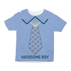 Handsome Boy Toddler All Over Print Tee #Toddler #Baby #Graphic design Baby Clothing #Bibs #Tee Shirts #bodysuits #unique baby items #cute baby clothes #tie
