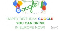 Happy #birthday Google - remember to #RegisterToVote Dansk.Deals
