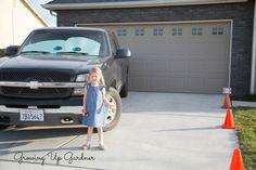 Cars Birthday Party- love the idea of making eyes for our cars in the driveway :)