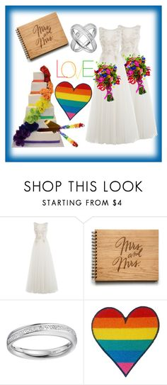 """""""Mrs. & Mrs."""" by alyson7123 ❤ liked on Polyvore featuring Alberta Ferretti"""