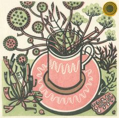 """Cup and Sun"" by Angie Lewin"