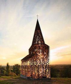 Belgium: 100 layers of steel building transparentChurch