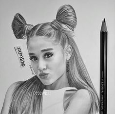 (Pepewhat drawing) Wow, how? Bff Drawings, Amazing Drawings, Realistic Drawings, Beautiful Drawings, Cool Drawings, Amazing Art, Ariana Grande Drawings, Ariana Grande Fans, Ariana Grande Pictures