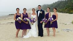 Purple and White Wedding Floral Design by Mitchell & Company Designs and Events. Beach scene at White Cliffs Country Club, Plymouth, MA Purple Hydrangea Wedding, Floral Wedding, Wedding Flowers, Beach Scenes, Bridesmaid Dresses, Wedding Dresses, Plymouth, Floral Design, Events