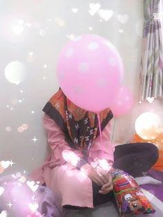 Balloon || hijab || muslimah || shy || love || ❤💓💕💖💗💝💞💟💙💚💛💜 Cotton Candy, Balloons, Balloon, Hot Air Balloons