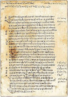 Codex Marchalianus designated by siglum Q is a 6th-century Greek manuscript copy of the Greek version of the Hebrew Bible (Tanakh or Old Testament) known as the Septuagint. The text was written on vellum in uncial letters.