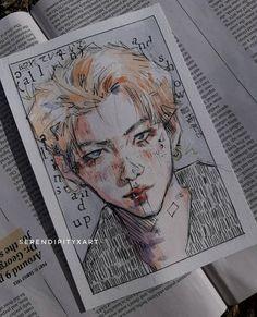 Kpop Drawings, Anime Drawings Sketches, Pretty Art, Cute Art, Diy Canvas Art, Kpop Fanart, Art Reference Poses, Colorful Drawings, Art Plastique