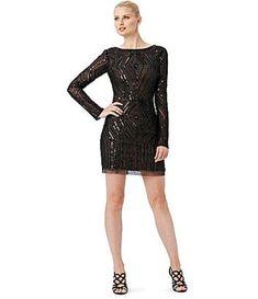 Adrianna Papell Long Sleeve Diamond Beaded Cocktail Dress BLACK SIZE 10P #8 NWT #AdriannaPapell #Formal